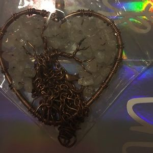 Tree of life heart pendent